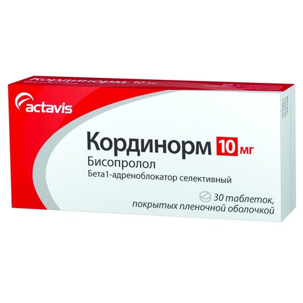 Кординорм 10 мг инструкция