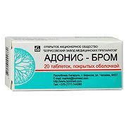 Купить Адонис-бром, таблетки покрыт.об., 00 шт. цена
