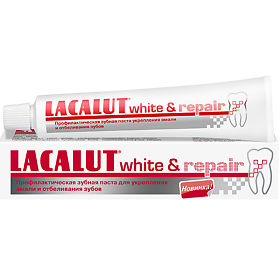 Lacalut White & Repair зубная паста, 50 мл