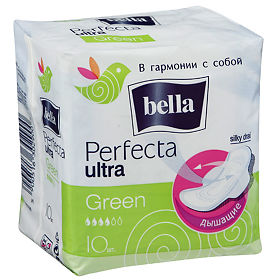 Bella Perfecta Ultra Green прокладки, 10 шт.