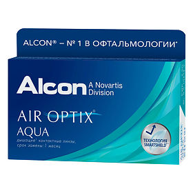 Контактные линзы Air Optix Aqua, на месяц -1.5 6шт