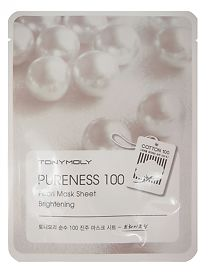 Тканевая маска Tony Moly с экстрактом жемчуга Pureness 100 pearl mask sheet, 21