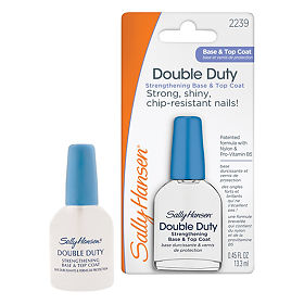 Средство Sally Hansen Nailcare 2в1 база и верхнее покрытие double duty strengthening, 13,3 мл