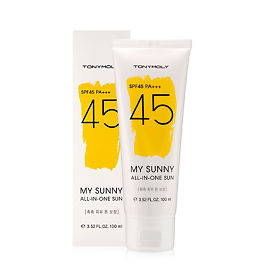 Крем Tony Moly для лица и тела my sunny all in one sun spf45 100мл, упак.