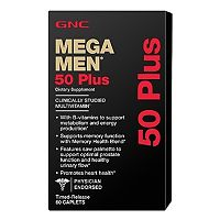 Купить ДжиЭнСи (GNC) Мега Мен 50 Плюс (Mega Men 50 Plus) капсулы 60 шт., упак. цена