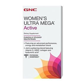 ДжиЭнСи (GNC) Ультра Мега Актив для женщин (Women`s Ultra Mega Active with Iron and Iodine) таблетки 120 шт., упак.