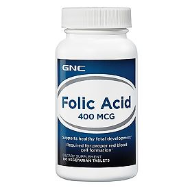 ДжиЭнСи (GNC) Фолиевая кислота 400 мкг (Folic Acid 400 mcg) 100 шт., упак.