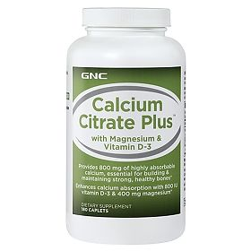 ДжиЭнСи (GNC) Цитрат кальция Плюс с витамином Д3 (Calcium Citrate Plus with Vitamin D3) таблетки 180 шт., упак.