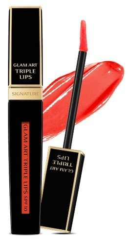 Блеск для губ Missha Signature Glam Art Triple Lips SPF10 (TOR03) 20мл, упак.