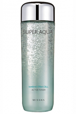 Гель-тоник для лица Missha подтягивающийSuper Aqua Marine Stem Cell Active Toner 150мл, упак.