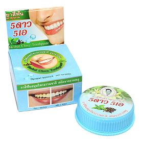 Зубная паста 5 Stars Cosmetic Herbal Clove Toothpaste голубая 25 г, упак.
