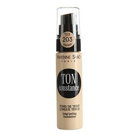 Тональный крем Vivienne Sabo устойчивый Long Lasting Foundation Fond de teint longue tenue Ton Constance тон shade 203, 25мл