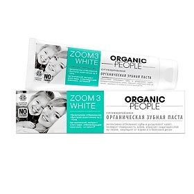 Зубная паста Organic People Zoom 3 White, 100 мл