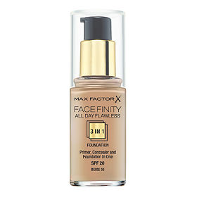 Max Factor Facefinity All Day Flawless 3-in-1 тональная основа 55 тон soft honey, 30 мл