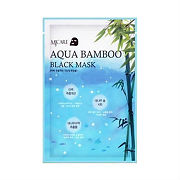 Купить Mijin MJ Care маска для лица черный бамбук MJ Aqua Bamboo black mask, 25 г цена