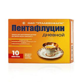 Пентафлуцин дневной гранулы для приг. Раствора 5г №5 цена.